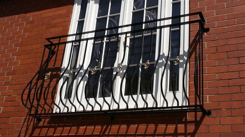 Bespoke Welded Wrought Iron Juliette Balcony