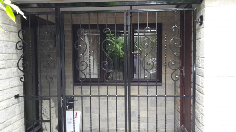 Secure Porch Area with iron gate
