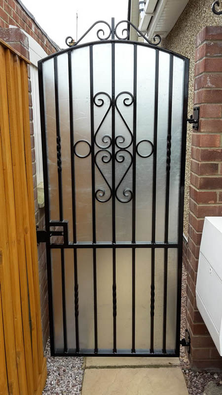 Secure Solid Iron Gate
