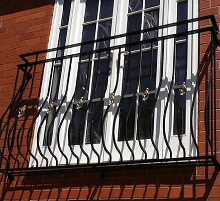 Bespoke Juliette Balcony -Wrought Iron